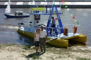 лодка гребная катер, парусно-моторный
