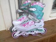 Продам женские  детские роликовые коньки