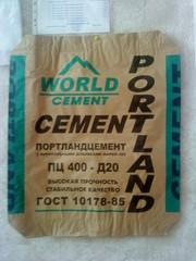 Мешок бумажный,  клапанный под цемент.