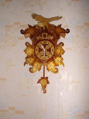 Часы настенные с маятником резьба дерево